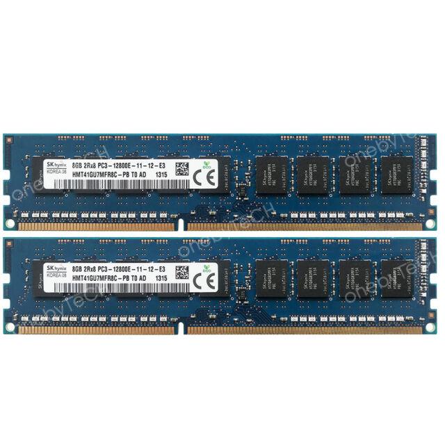 16GB 2x8GB PC3-12800E DDR3 DIMM 240pin ECC For IBM Lenovo ThinkServer TS140 70A4