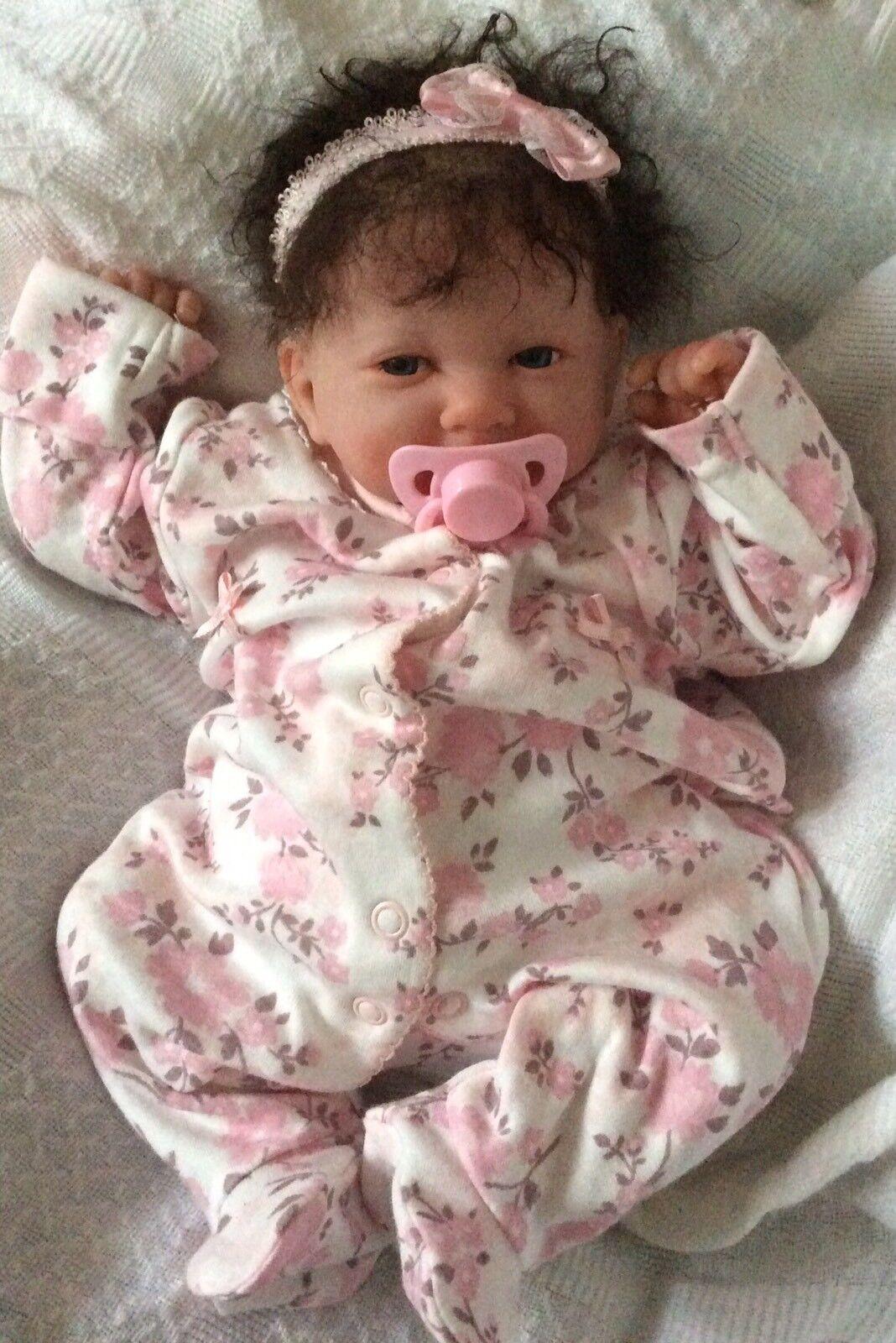 BELLISSIMO REBORN BERENGUER BABY DOLL radicato capelli AFFARE