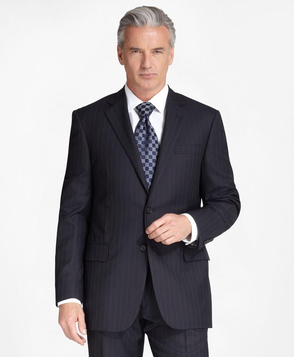 900 Brooks Brothers 1818 Madison Navy blu Striped 42 42 42 R Suit pants 32 X 29 9ac0d5
