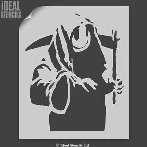 Banksy Grim Reaper Stencil Home decor art craft painting - Ideal ...