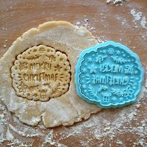 Details About Merry Christmas Frame Cookie Cutter Frame Cookie Stamp Merry Christmas Cookies