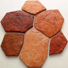 6 pcs Plastic MOLDS for Concrete Paving Garden Stepping Stone Path Patio CEMENT