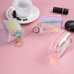PVC-Zipper-Keys-Pouch-Jelly-Coin-Purse-Pocket-Bag-Cards-Holder-Mini-Wallet