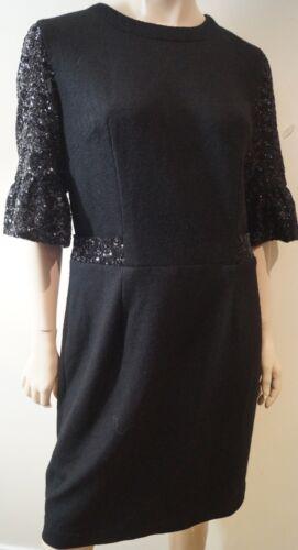 Sequin Sleeve 3 Dress Embellished Black 42 Uk10 4 Evening Formal Libelula qIwn1Tpxtx