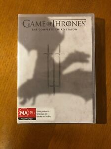Game-Of-Thrones-The-Complete-Third-Season-MA-DVD-Brand-New-Sealed-Free-Post