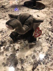 TY Beanie Babies TRUMPET Elephant Beanbag Plush Stuffed Animal Toy