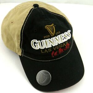 1295b1d9a Details about Guinness Las Vegas On The Strip Baseball Cap Built In Bottle  Opener Embroidered