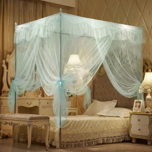 No Frame Luxury Lace Canopy Insect Mosquito Net Bed Netting Full Queen King Size