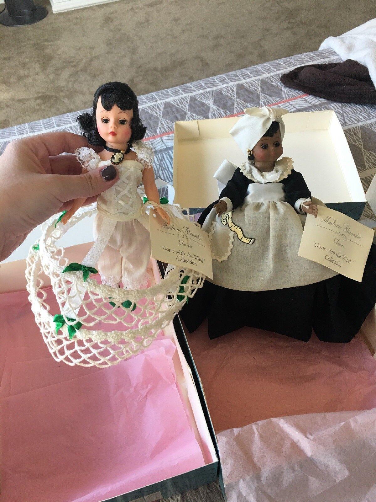 10  Scarlett & 10  Mammy ido con el viento dos muñecas por Madame Alexander