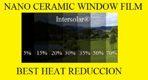 "Window Film 30/%  Nano Ceramic Tint  Residential Auto  24/""x15/' 2ply Intersolar®"