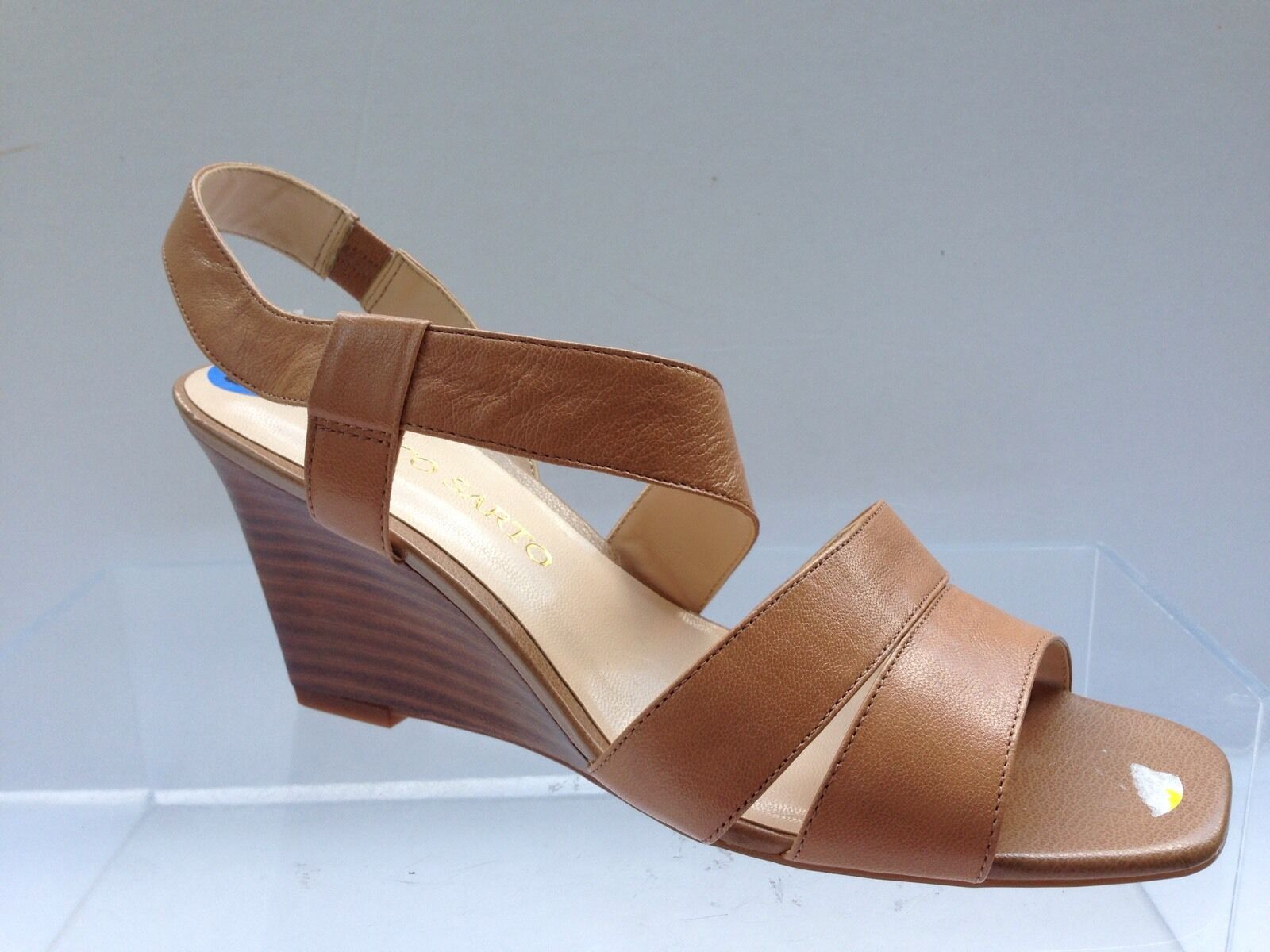 Display Franco Sarto TAMI Women Leather $110) Wedges Sz 6.5 (MSRP $110) Leather 76c164