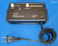 Coax Antenna Video Booster Inline Repeater Tv Signal Amplifier Satellite Hd Amp