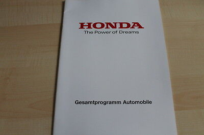 Modellprogramm Honda Prospekt 09/2011 Elegant Im Geruch 106455