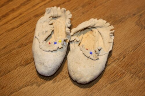 Vintage Native American Sioux baby Moccasins
