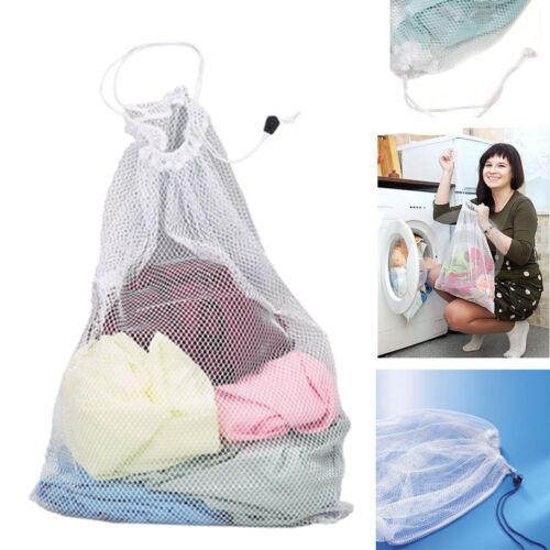 Drawstring Laundry Bag Washing Machine Mesh Net Pouch Clothe