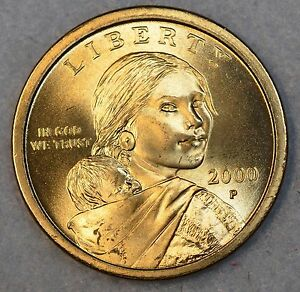 2000-P-Native-American-Sacagawea-Dollar-1-Choice-BU-Mint-US-Coin-UNCIRCULATED