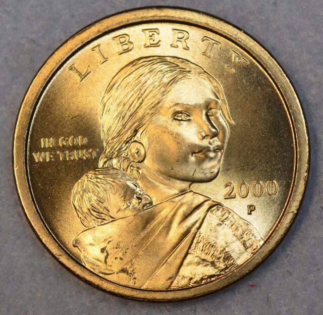 2000-P Native American Sacagawea Dollar $1 Choice BU Mint US Coin UNCIRCULATED