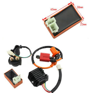 Zündspule+CDI+Relais+Zündkerze+Gleichrichter Nur passend für CG Vertikal Motor