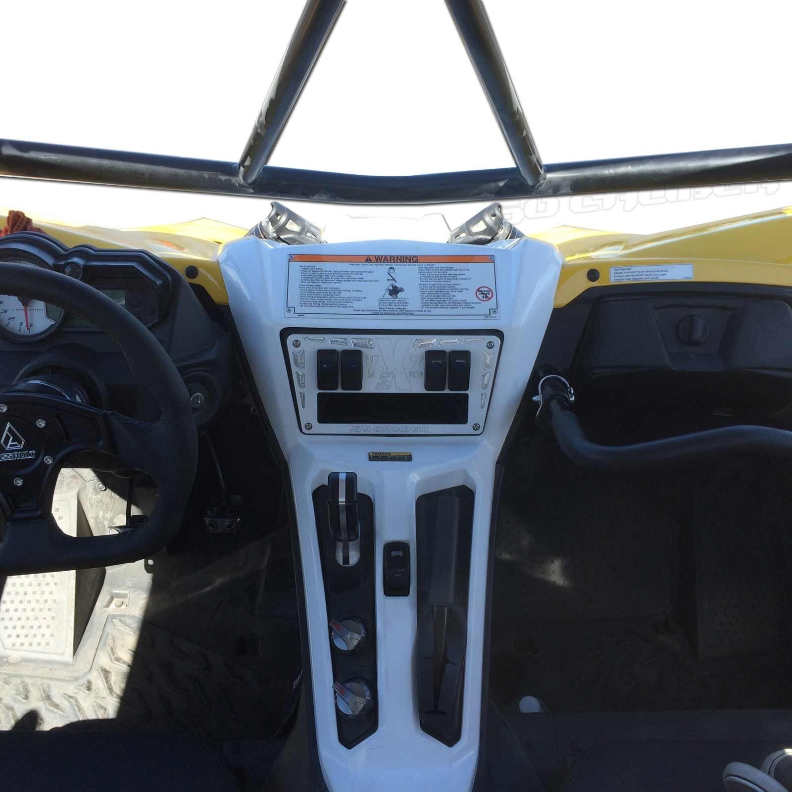 YXZ 1000 Billet White Dash Panel w Switches 2015+ Peformance Off Road Acceossory