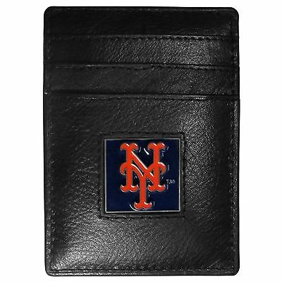 Baseball & Softball Intellektuell Ny New York Mets Mlb Feine Vollleder Kartenhalter Geldklammer Portemonnaie Weitere Ballsportarten