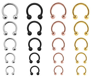 Horseshoe-Barbell-Bar-Circular-Piercing-Surgical-Steel-Nose-Septum-Nipple-Ear