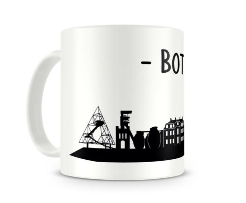 D:82mm Bottrop Skyline Tasse Kaffeetasse Teetasse Kaffee  2 Farben H:95mm