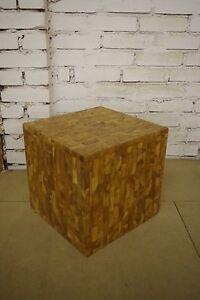 Bali-Tisch-Hocker-Ablagefach-Kiste-Patchwork-Holz-Handarbeit