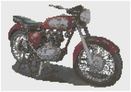 Royal Enfield Moto Kit Punto de Cruz por Florashell