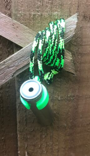 Countryside Fox Calls SS Squeaker with 3D Neon Green Lanyard Clip Hands Free