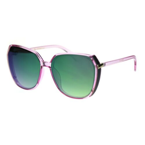 Womens Mod Oversize Designer Fashion Squared Butterfly Sunglasses