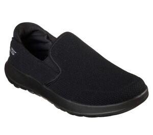 Skechers-Black-shoes-On-The-Go-Walk-Men-Sporty-Casual-Comfort-Slip-On-Mesh-55399