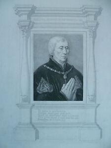 XIX Gravur Porträt Blasphemer Guillaume Herr Der Montmorency Baron