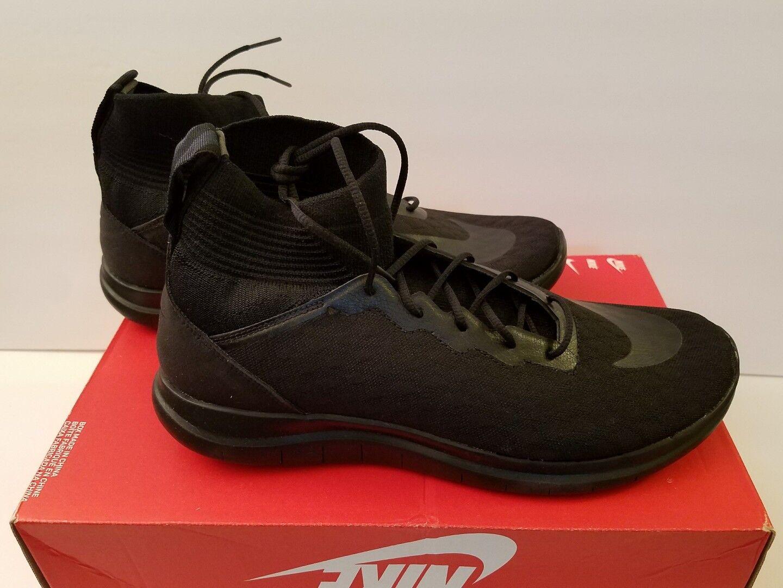 Nike Free Hypervenom 3 FK Size 9 & 11.5 Black Flyknit Athletic Shoes