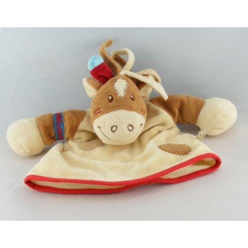 Cheval Doudou marionnette poney cheval Pinto kaya indien marron NOUKIE/'S Ane