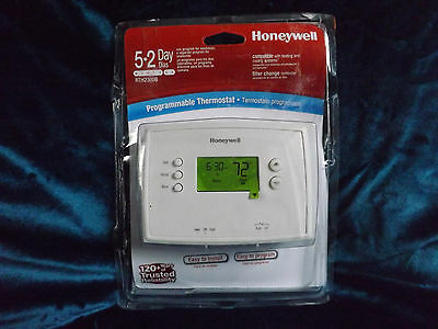 1 Honeywell RTH 2300 B Digital 5-2 Day Programmable Thermostat  Green display.