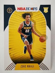 Panini Hoops 2020-21 N21 NBA Rookie RC #235 Denver Nuggets Zeke Nnaji