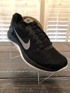 373267c14b2 Nike Lunarglide+ 5 Shield Pack SZ 10 Black White Silver 615969-001 ...
