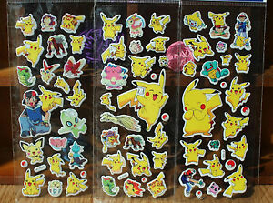 20-Various-Pokemon-Stickers-for-Phone-Car-Bag-Books-ipad-tablet-Pikachu-Monster