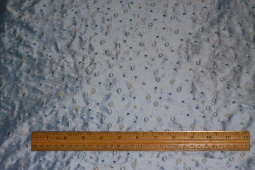 """54/"""" W Baby Blue Silk Dupioni Shantung w// Embroidery 100/% Silk Fabric EB-880"""