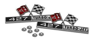 66-Corvette-Front-Fender-Emblems-427-Turbo-Jet-NEW