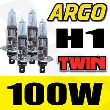 4 X CLEAR H1 100W HALOGEN CAR DRIVING HEADLIGHT FOG LIGHT BULBS 12V REPLACEMENT