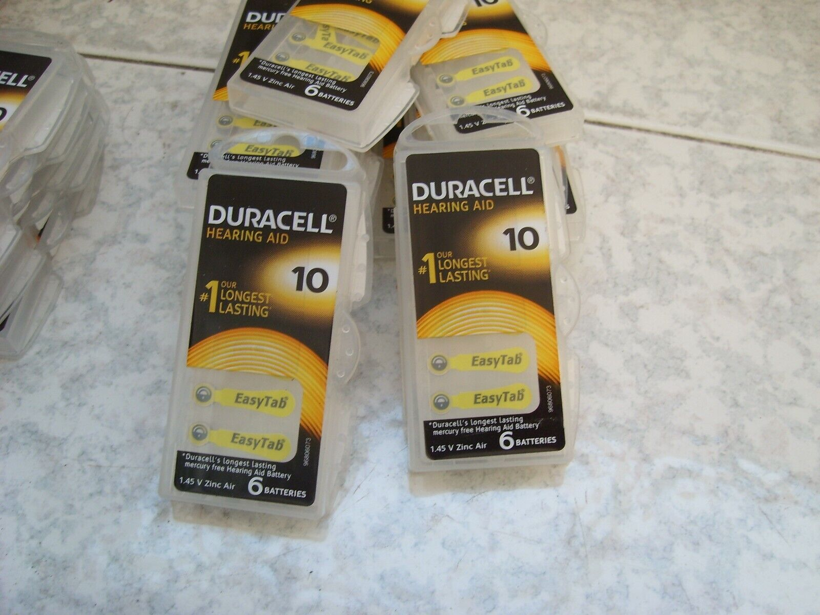 18 Duracell 10 Battery Batteries for pr70 Acoustic Apparatus prosthesis