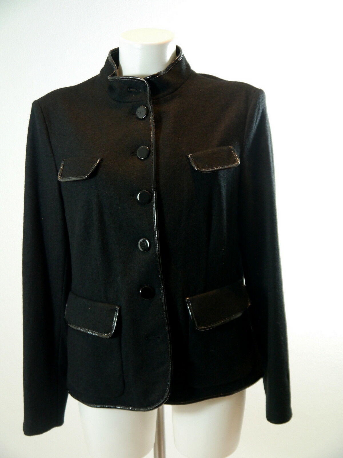 check out 055d5 66eca schwarz Blazer Wolljacke Walkjacke taill. STEILherrenN Gr.42 ...