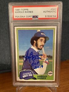 Harold Baines Signed Auto Autograph 1981 Topps Baseball Card RC Rookie PSA DNA