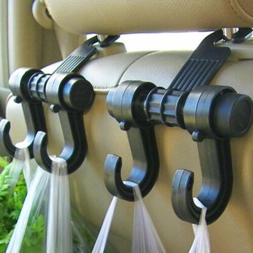 Car Seat Back Headrest Dual Hook Holder Plastic Hanger Fit For Bag Purse Clothes