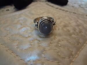#55 VINTAGE STERLING SILVER RING-925--SIZE-8