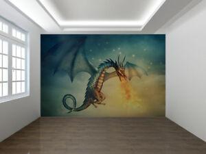 Detalles De Flying Dragon Fantasía En La Noche Foto Wallpaper Mural 15680855 Ver Título Original