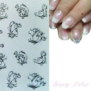 Details Zu Wasser Transfer Nagel Sticker Nailart Tattoo Aufkleber One Stroke Silber 149