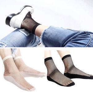 2-Pairs-Stylish-Women-Girls-Fishnet-Socks-Summer-Mesh-Short-Cut-Socks-Hollow-US