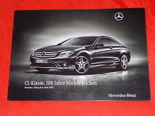 """MERCEDES C216 CL-Klasse """"100 Jahre Markenzeichen"""" Sondermodell Prospekt von 2009"""